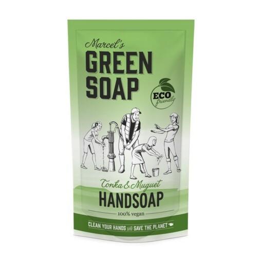marcels green soap handzeep navulzak tonka
