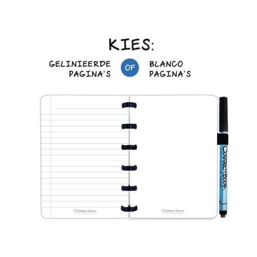 correctbook A6 blanco of gelijnd