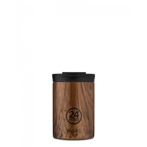 24Bottles Travel Tumbler Sequioa Wood