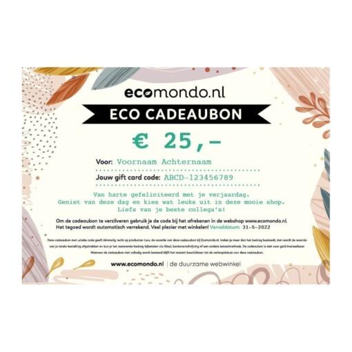 duurzame eco cadeaubon 25