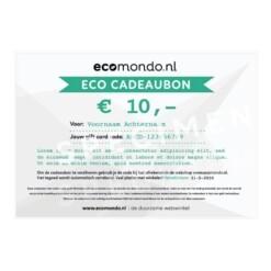 duurzame cadeaubon 10 euro