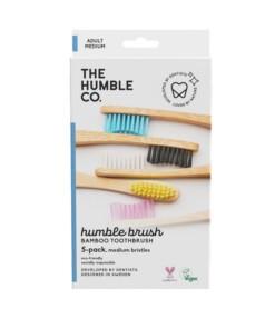 family pack humbe brush soft bamboe tandenborstel