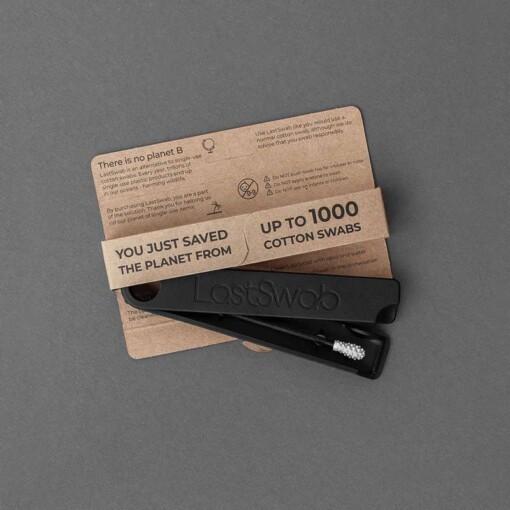 lastswab herbruikbaar wattenstaafje black