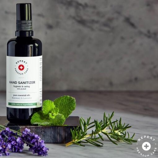 desinfecterende hand spray lavendel rozemarijn