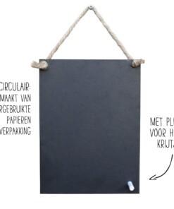 circulair krijtbord eco chalk board