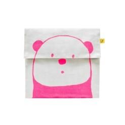 fluf flip snack sack panda pink