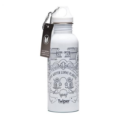 tulper rvs fles wit
