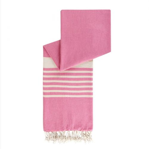 happy towels hamamdoek biokatoen roze